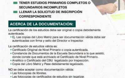 REQUISITOS PARA LA PRE INSCRIPCIÓN DE SECUNDARIO
