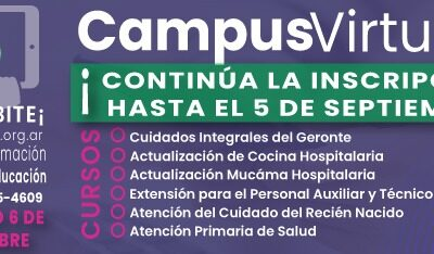 CONTINÚA LAS PRE-INSCRIPCIONES DEL CAMPUS VIRTURAL HASTA EL 5 DE SEPTIEMBRE.